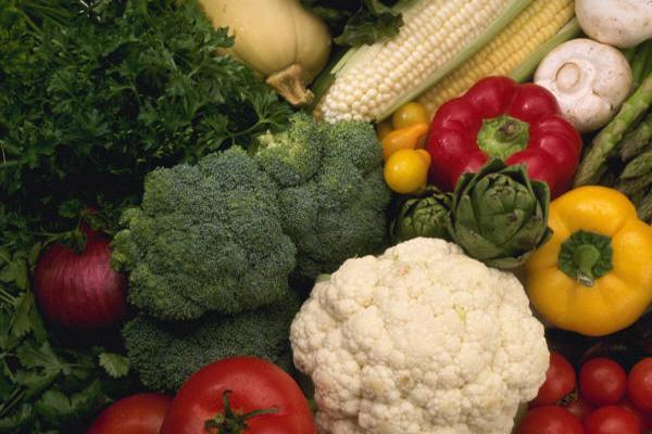 A selection of fresh vegetables