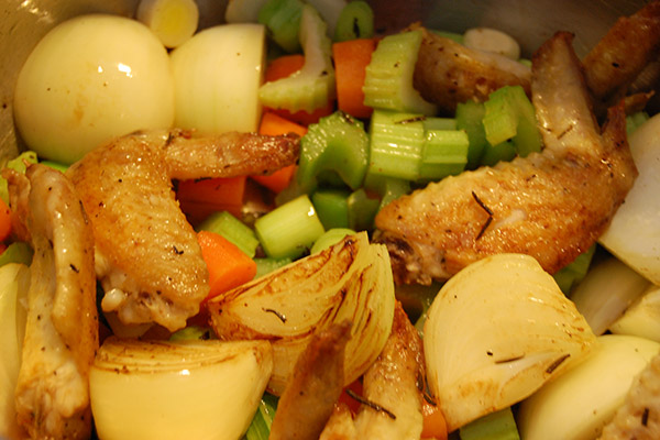 Caramelised chicken and vegetables