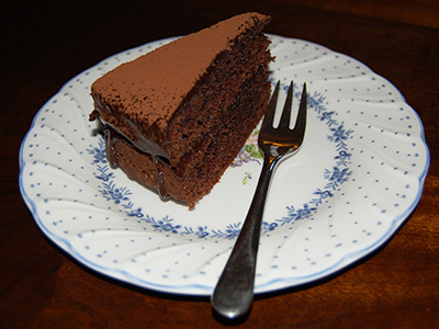 Rich, moist gluten-free chocolate cake